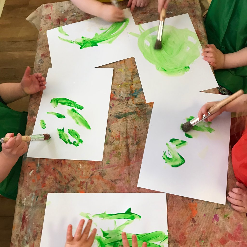The arts give us the opportunity to learn to study details and handle corrections. Depending on the child